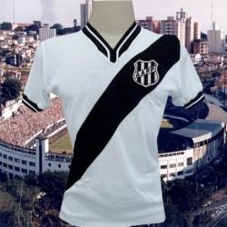 Camisa retrô Ponte Preta branca 1977