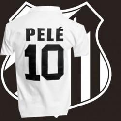 Camisa retrô Santos  branca Pelé -1963