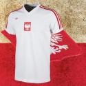 Camisa retrô da Polonia  logo branca  -1984