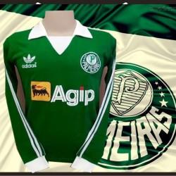 Camisa retrô Palmeiras parmalat logo 1992