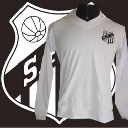 Camisa retrô Santos casual branca