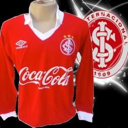 Camisa retro Internacional vermelha manga longa coca cola