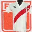 Camisa retrô Peru logo gola V-1980