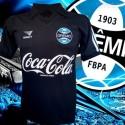 Camisa  retrô  Grêmio  preta comemorativa 1986