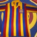 Camisa retrô Madureira listrada década de 80.