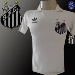Camisa Santos - 1987  branca logo