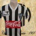 Camisa retrô Atlético  penalty listrada 1986.