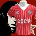 Camisa retrô da CCCP listrada  vermelha- 1982