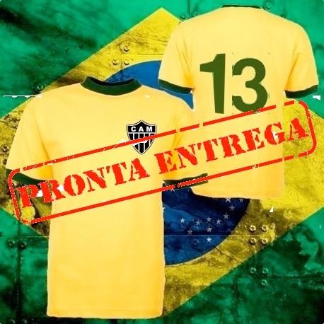camisa retrô Seleção Brasileira 1970