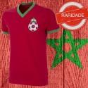 Camisa retrô Marrocos vermelha 1970