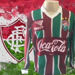 Camisa retrô Fluminense 1916 manga longa