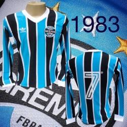 Camisa retrô Grêmio logo manga longa