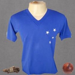 Camisa retrô Cruzeiro azul - 1968 gola em V