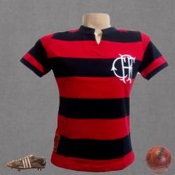 camisa retrô Flamengo baby look tradicional