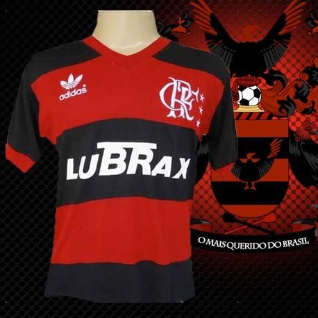 a2e0845a06 Camisa retrô Clube de Regatas do Flamengo lubrax gola em V