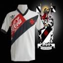 Camisa  retrô Vasco branca -1989  - Coca cola vermelha