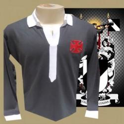 Camisa retrô  vasco preta manga longa 1923