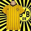 -Camisa  retrô Borussia Dortmund  listrada- ALE
