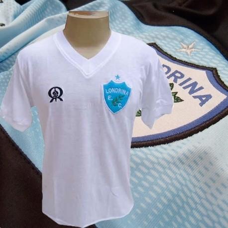 b3b2bea54 Camisa retrô londrina branca 1981. - Loja Camisas de Futebol Retrô