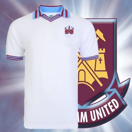 7f1d3764fe Camisa retrô West Ham branca tradicional- ENG
