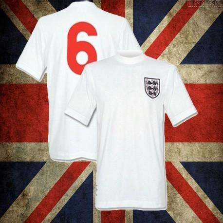 Camisa retrô da Inglaterra branca - 1970 ccb74dae8c712