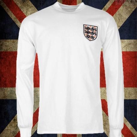 Camisa retrô da Inglaterra branca ML - 1970 c4c821dda105d