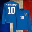 Camisa  retrô França Zidane  azul ML.