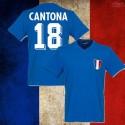 Camisa  retrô França Cantona .