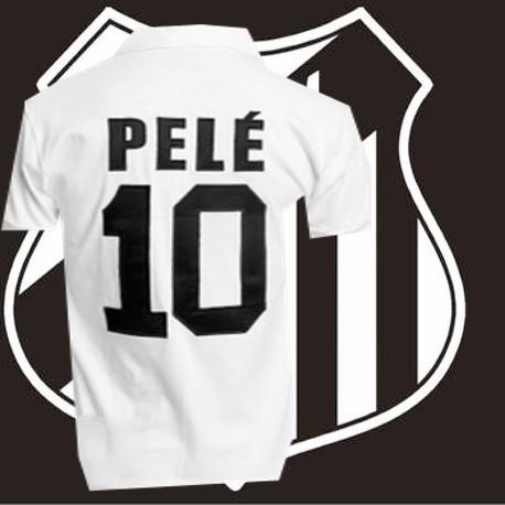 6e7f8ef8b8cc9 Camisa retrô Santos branca Pelé -1963