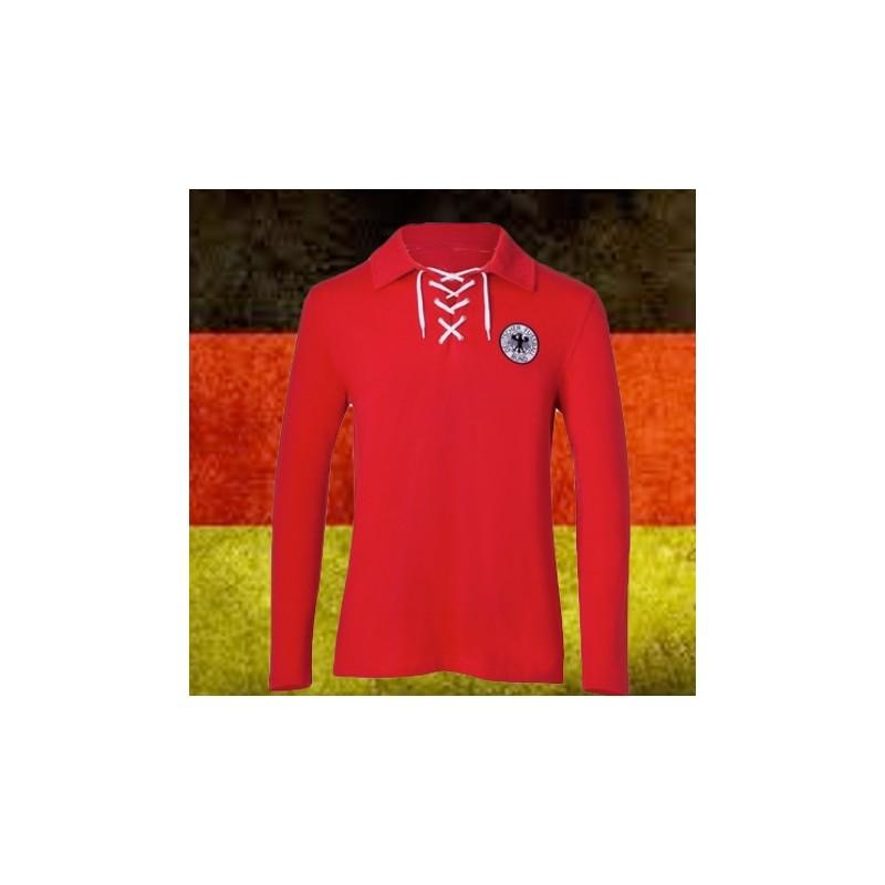 Camisa retrô goleiro Alemanha vermelha -1954 eca986cbee691