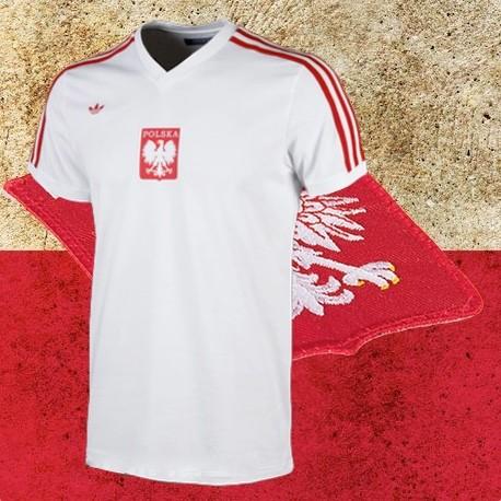 Camisa retrô da Polonia logo branca -1984 - Loja Camisas de Futebol ... 0ed3f98e7b5b7