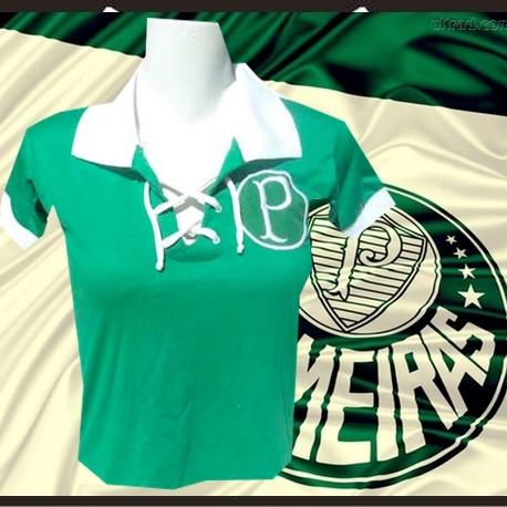 Camisa retro baby look cordinha Palmeiras 2bd3561fc42ea