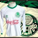 camisa retrô Palmeiras ML branca 1991.