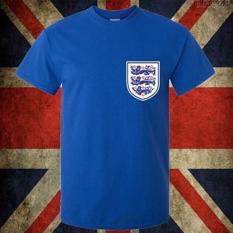 Camisa retrô da Inglaterra azul escuro -1970 4ef8ef36d5236