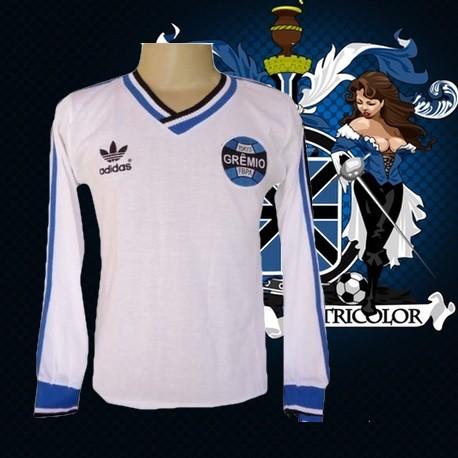 afaac04d62a88 Promoção! camisa retro branca gremio 1983 manga longa