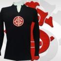 Camisa retrô   goleiro  preta Internacional  Manga ML 1974.