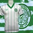 Camisa  retrô Celtic  Glasgow branca listrada- ESC