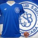 Camisa  retrô São Bento Esporte Clube  azul-