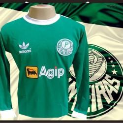 camisa retro Palmeiras manga longa agip