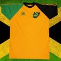 Camisa retrô logo verde e preta Jamaica