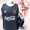 Regata  retrô  preta  Atlético coca cola