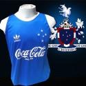 Regata retrô Cruzeiro azul  coca cola.