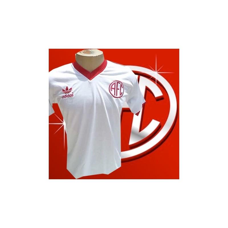 77660b8a36 - Camisa retrô América RJ logo branca