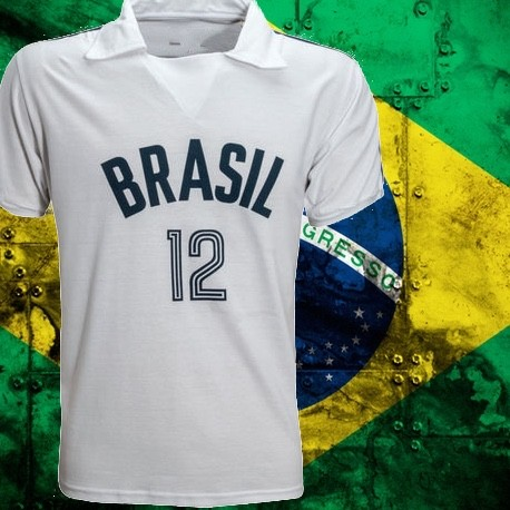 Camisa retrô branca de Volei - - Loja Camisas de Futebol Retrô 7983a1a687b5d