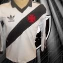 Camisa retrô  Vasco branca ML  logo 1987.