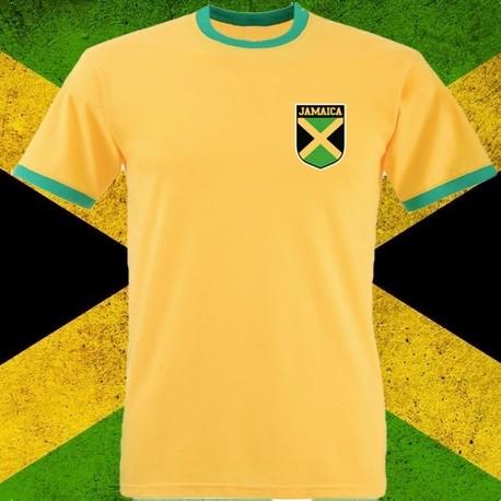 24b9078980 Camisa retrô amarela Jamaica.