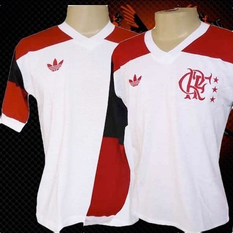 Camisa retrô Flamengo 1981 manga longa