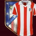 Camisa retrô Atlético Madrid  gola polo 1980.