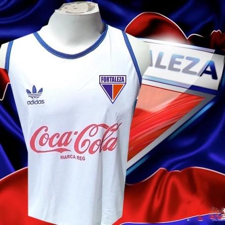Camisa retro Fortaleza branca logo