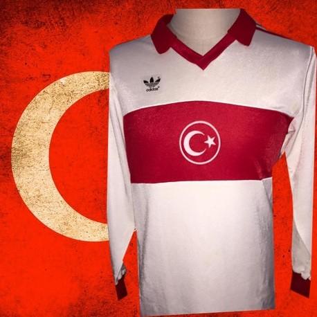a97dc3ee97 Camisa retrô Turquia branca logo ML - 1989